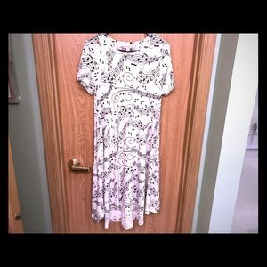 Lularoe Musical Note Carly Dress - S
